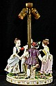 German Dresden Style Porcelain May Day Figural Lamp