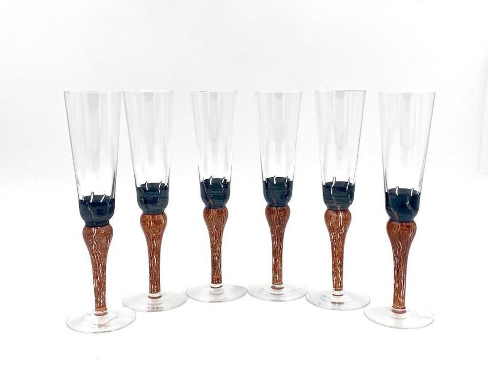 Kosta Boda Champagne Flutes by Monica Backstrom