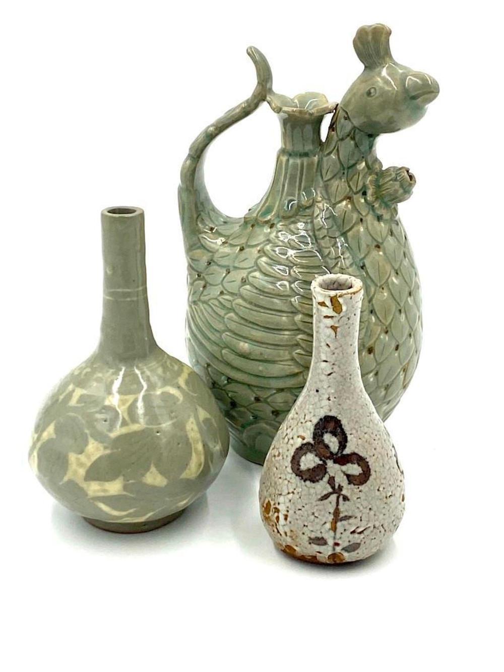 Three Korean Celadon Vases