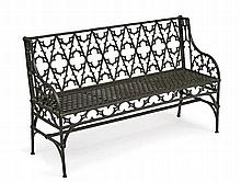 Garden Bench, England, c. 1840, Design by James Yates (1779-1881), Rotherham Foundry or