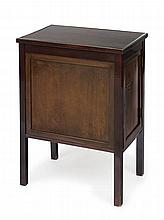Bedside cabinet, Vienna, Adolf Loos, around 1907. Mahogany. Facetted glass plate, 74 x 34