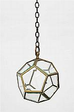 AMPEL LAMP 'DODEKAEDER', Vienna, Adolf Loos, around 1907.Nickel-plated brass. Facetted and