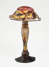 TABLE LAMP, Daum Frères, Nancy, 1919-1925. H. 49 cm.