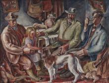 Poncelet, Maurice Georges Les Chaisseurs. 1925