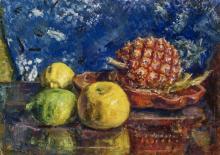 Bock, Ludwig Still Life with Pineapple and Lemons