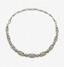 Historic diamond collier transformable to a bracelet