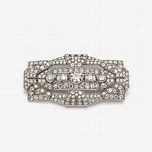 Diamond brooch of an Art Deco design