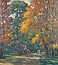 HAUSE, RUDOLF Herbst im Englichen Garten. Sign., Rudolf Hause, Click for value
