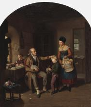 Hanno Rhomberg (1820 Munich - 1869 Walchsee / Tyrol) - The selfless schoolmaster