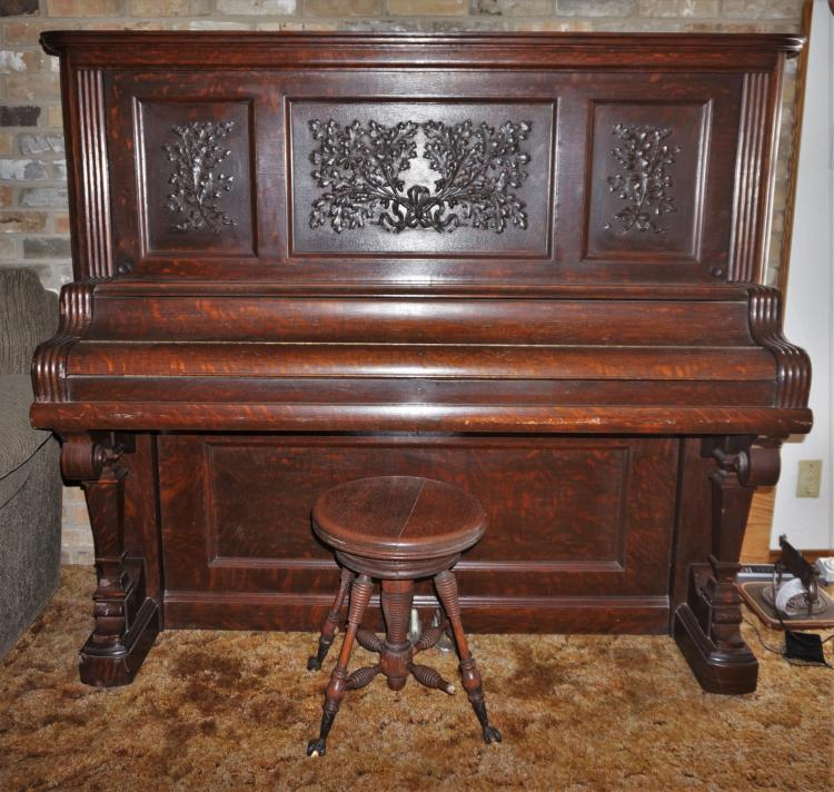 Antique Kimball Piano And Stool