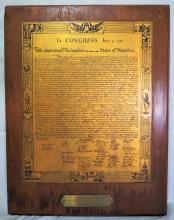 Brass Declaration of Independence