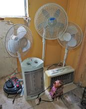 Fans and heaters