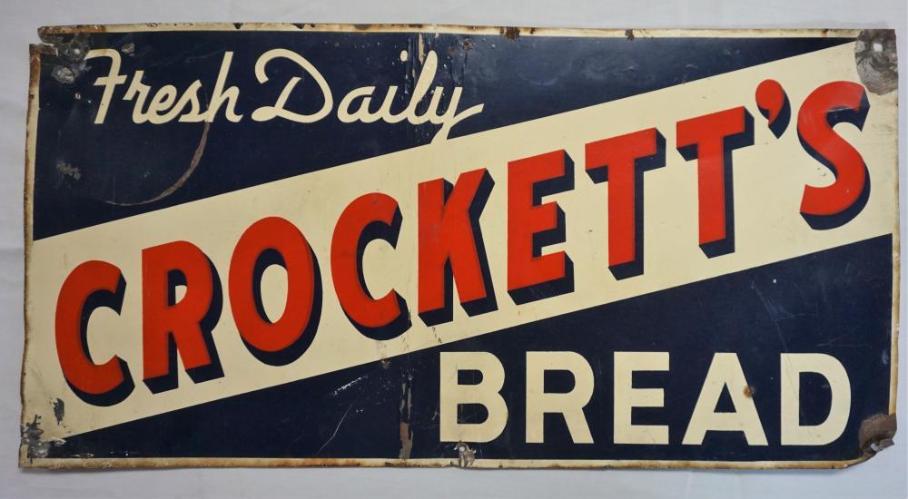 Crockett's Bread sign