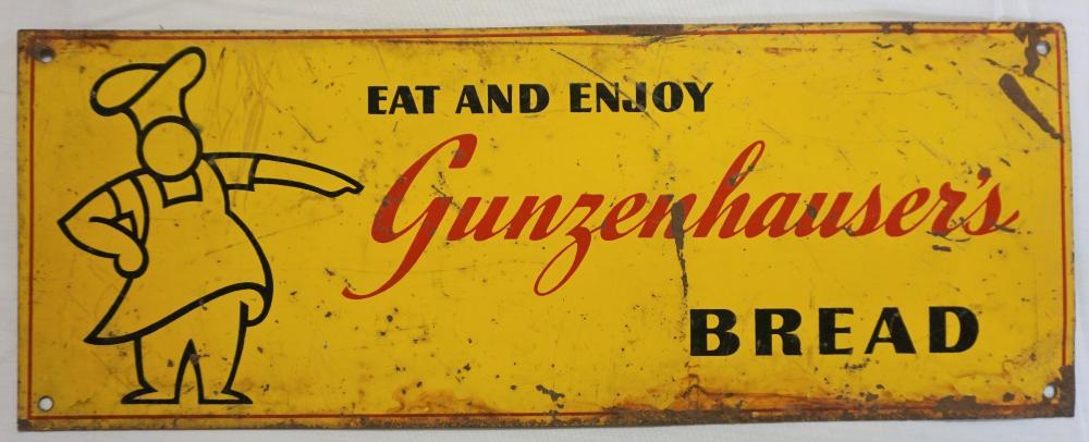 Gunzenhauser's Bread sign
