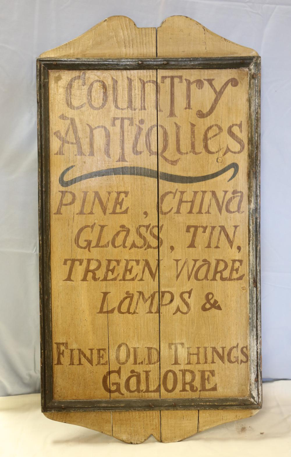 Country Antiques Sign