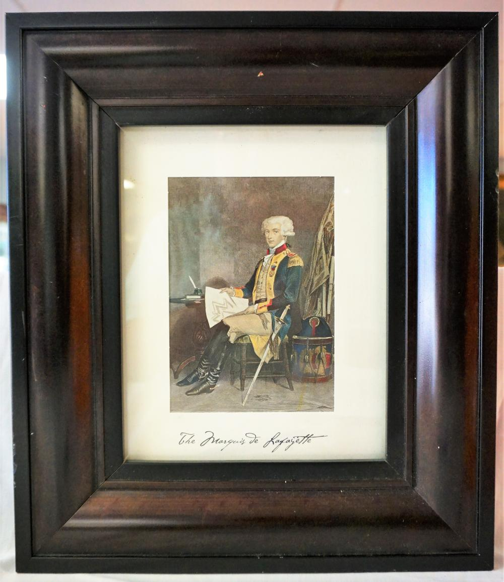Framed Marque de Lafayette print