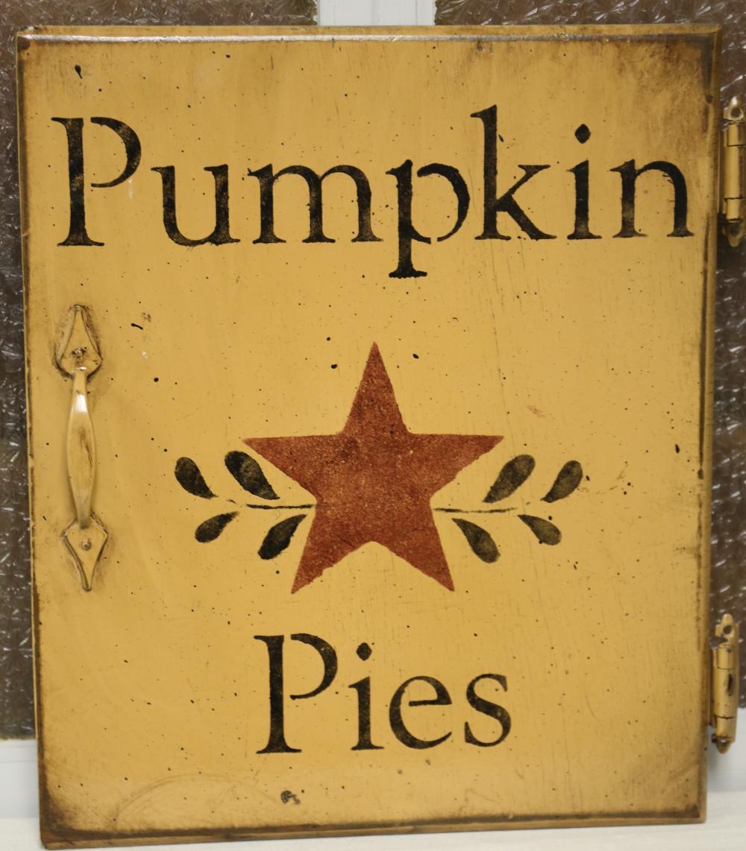 Pumpkin Pies cabinet door