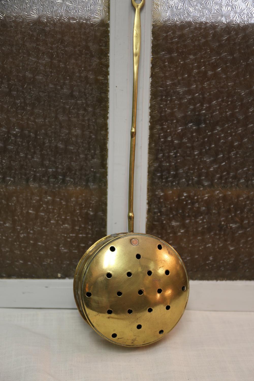 Small brass bedwarmer