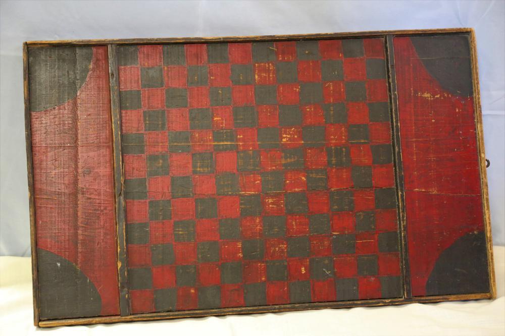 Antique Game and Checker Board