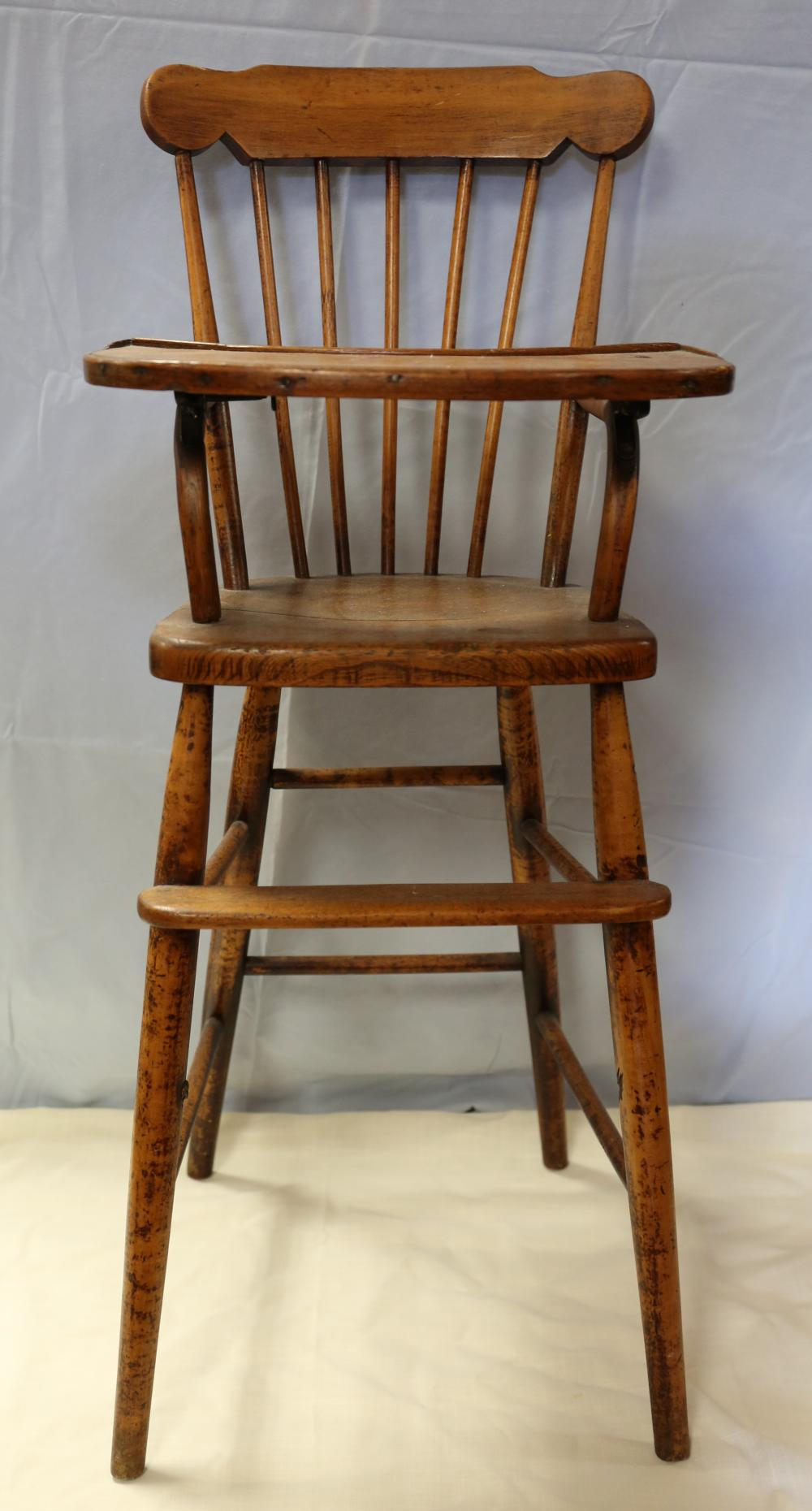 Antique baby high chair