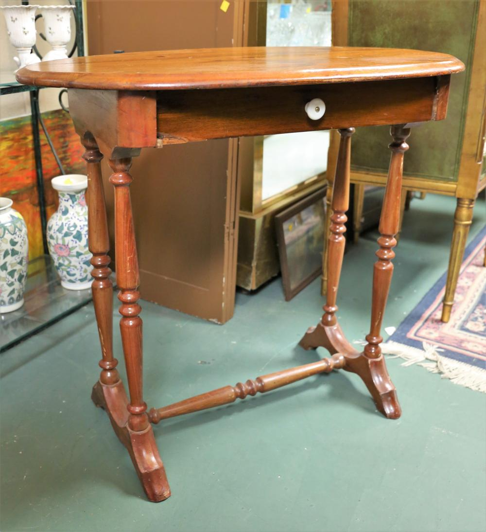 Oval Entry Table