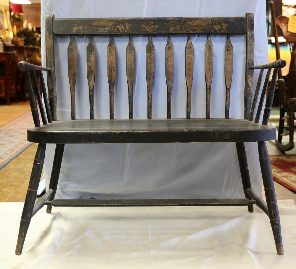 Vintage Nichols & Stone wooden bench