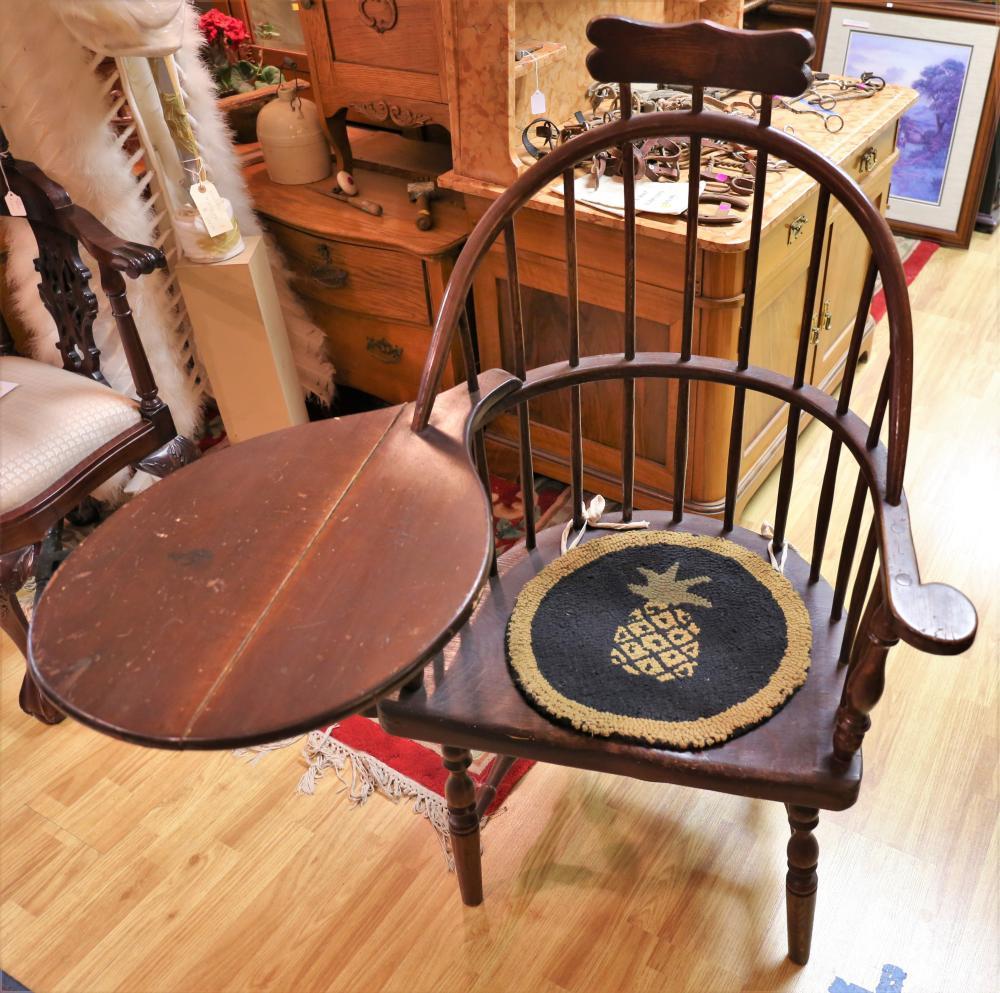 Dark Wood Chair/desk