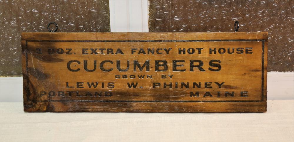 Cucumbers sign