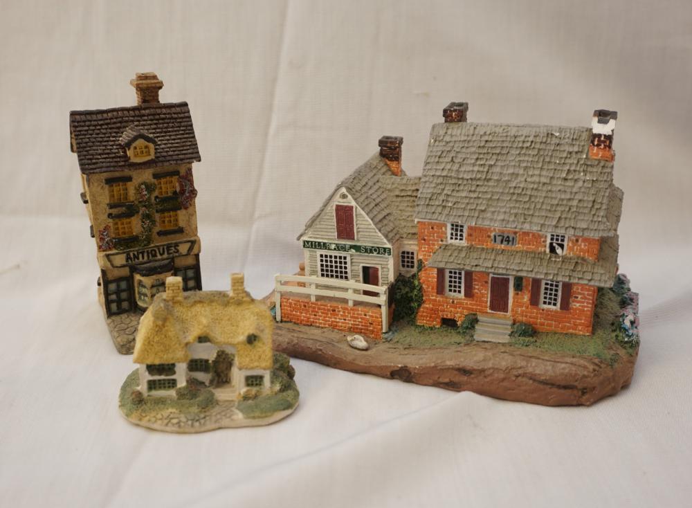 Assorted miniature buildings