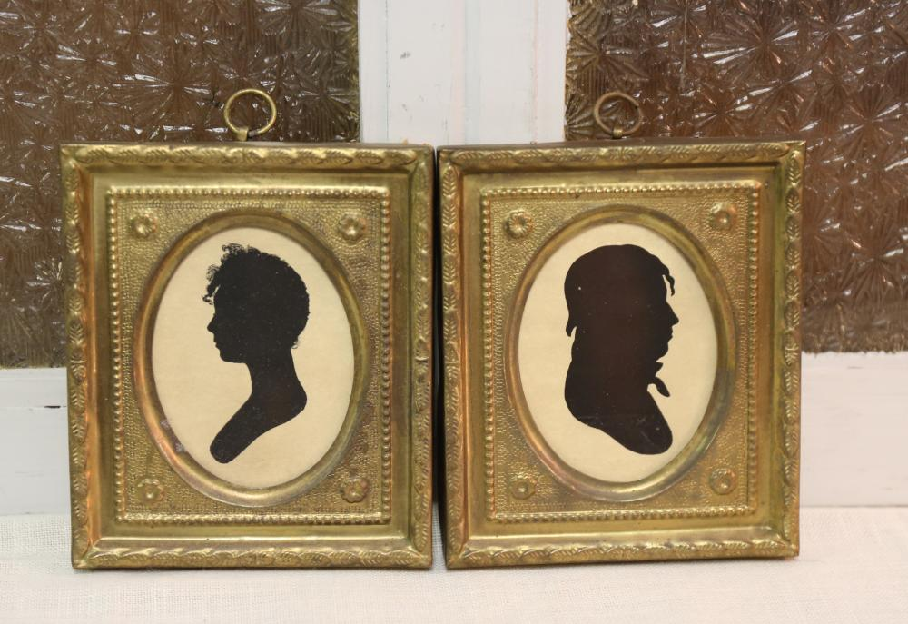 Pair of Peale silhouettes