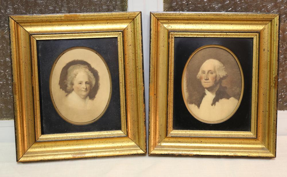 George and Martha Washington portraits