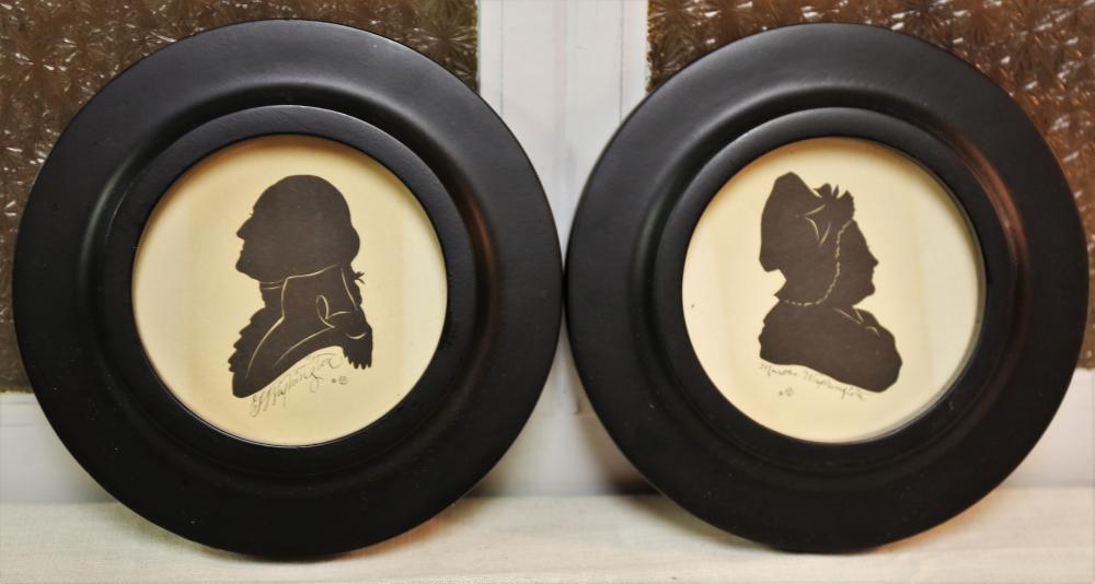 George and Martha Washington silhouettes