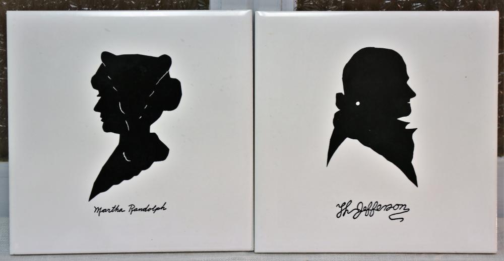 Thomas Jefferson and Martha Randolph tiles