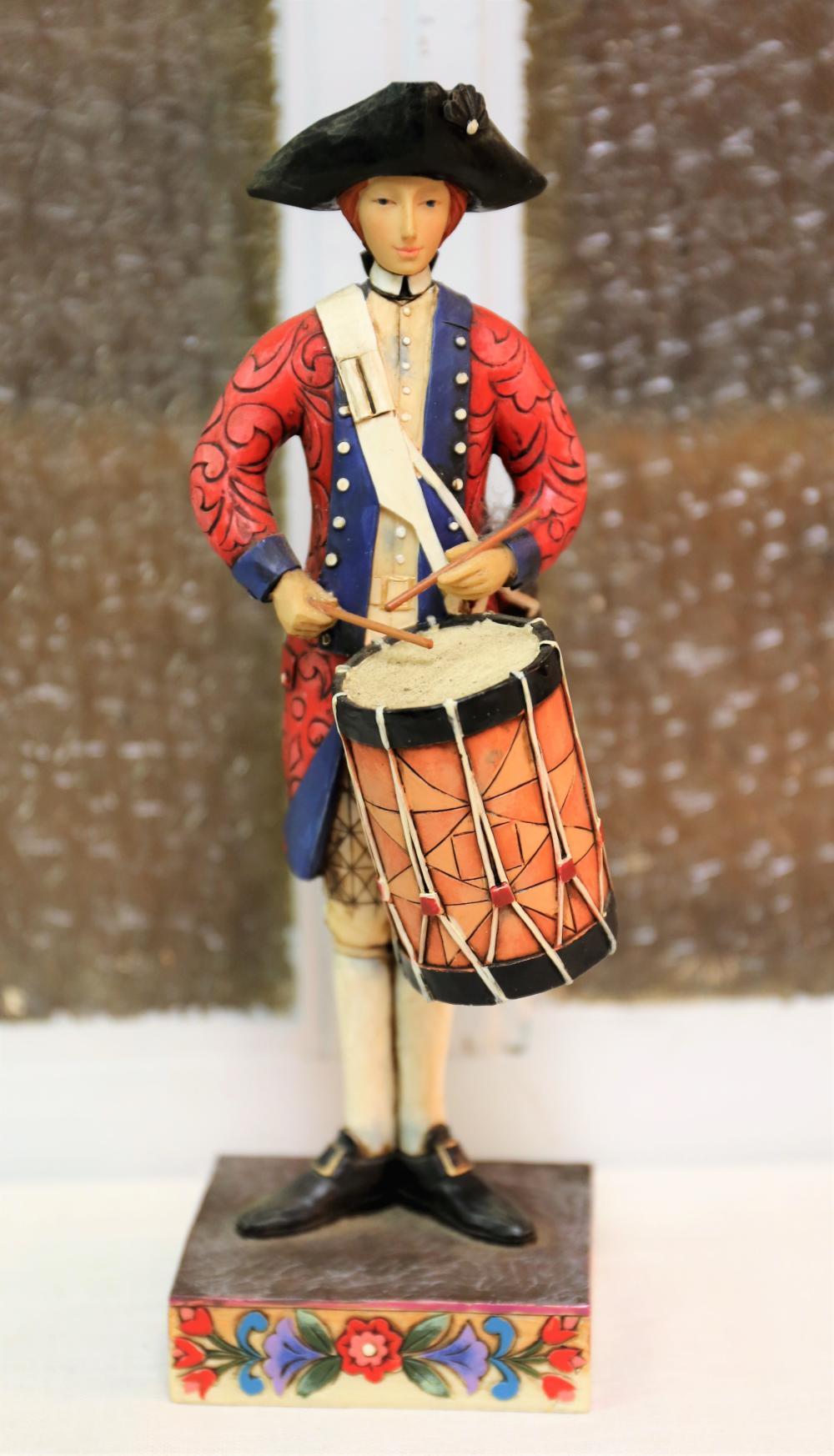 Jim Shore drummer figurine