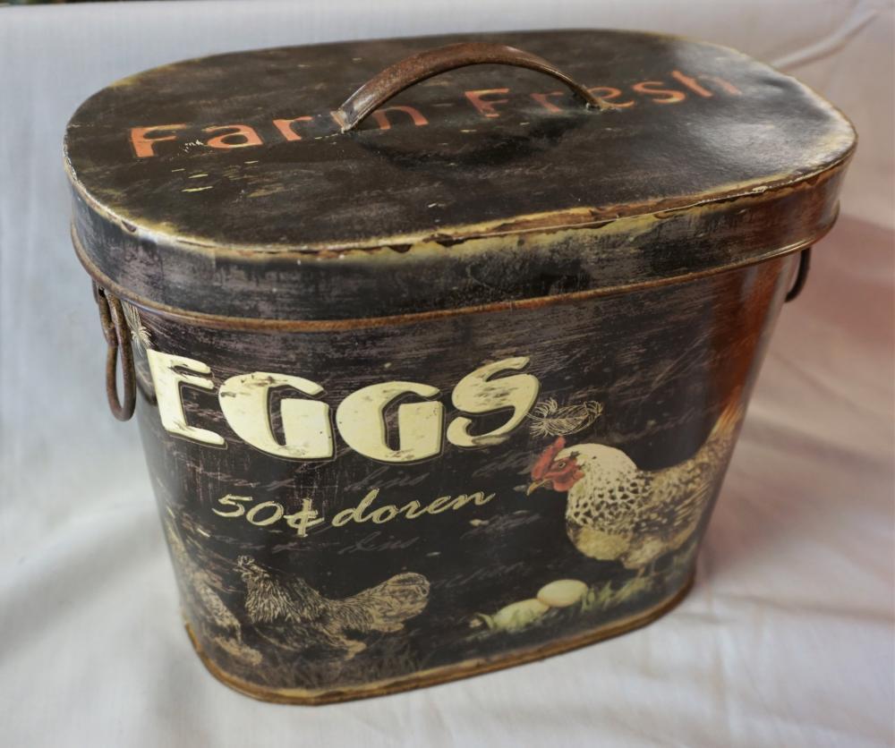 Dozen egg tin