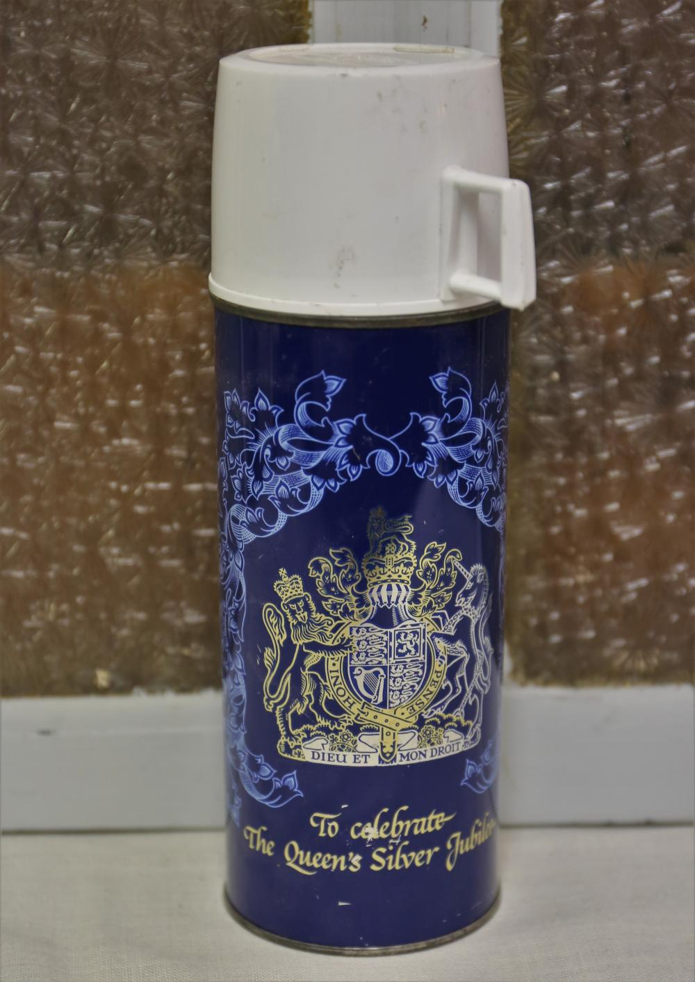 Queens silver Jubilee Thermos