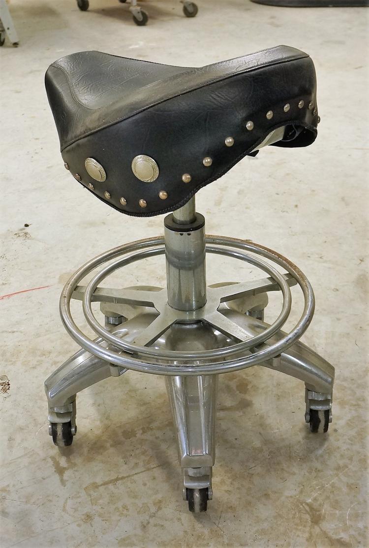 Antique Metal Stool