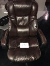 Leather executive rolling office chair