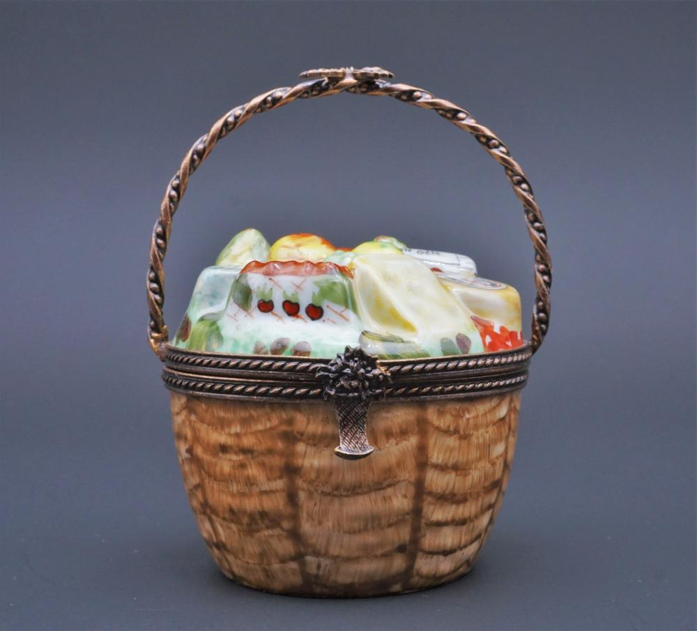 Limoges Peint Main cheese basket trinket box
