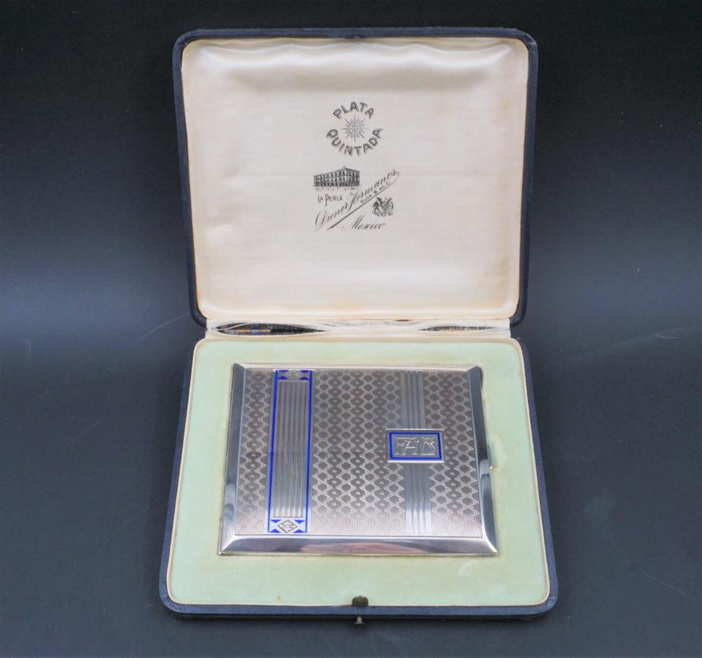 Sterling silver cigarette case