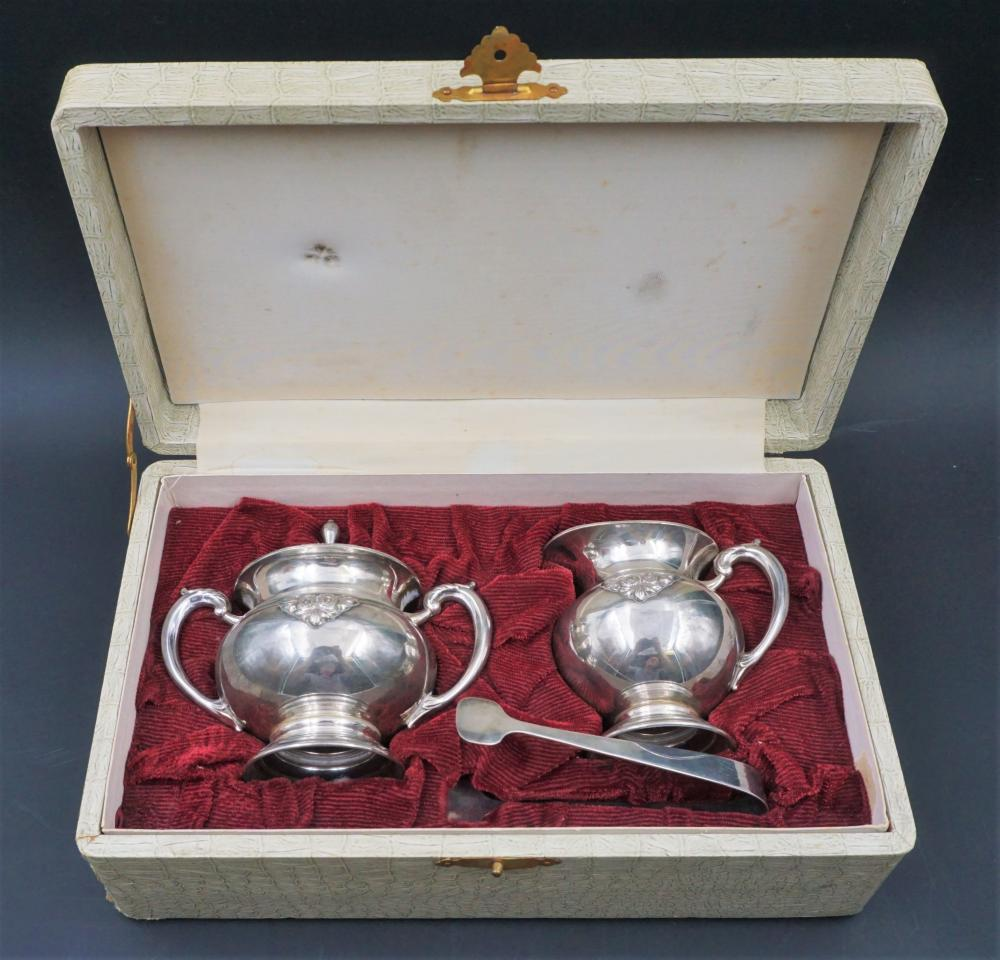 Sterling sugar and creamer set