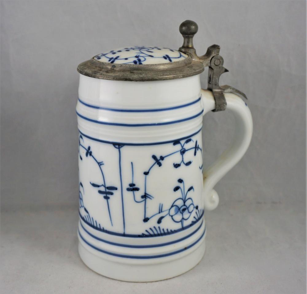 Meissen Blue Onion lithophane stein