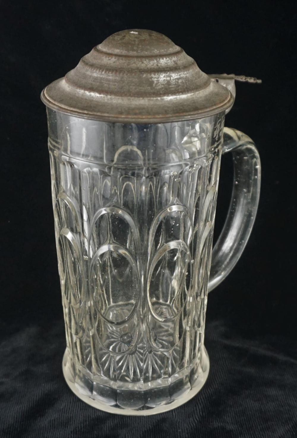 Antique blown glass stein