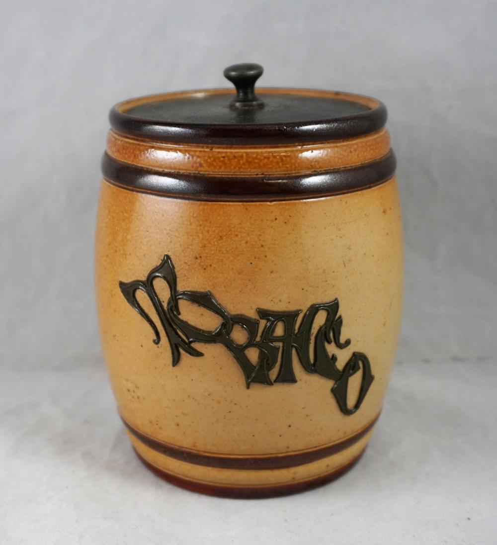 Doulton Lambeth tobacco jar