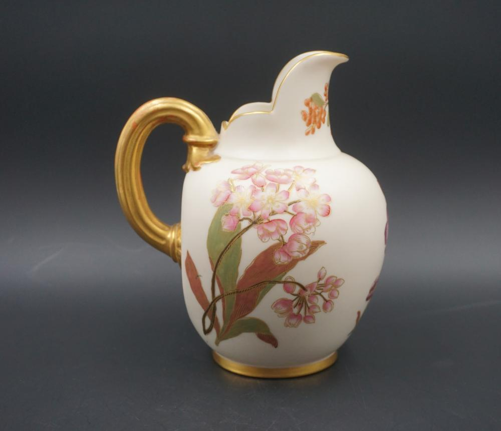 Royal Worchester Blush Ivory antique porcelain pitcher
