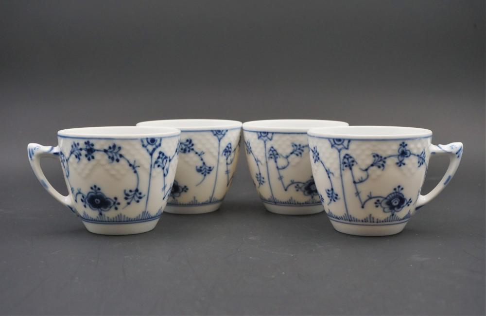 B&G Copenhagen blue and white tea cups
