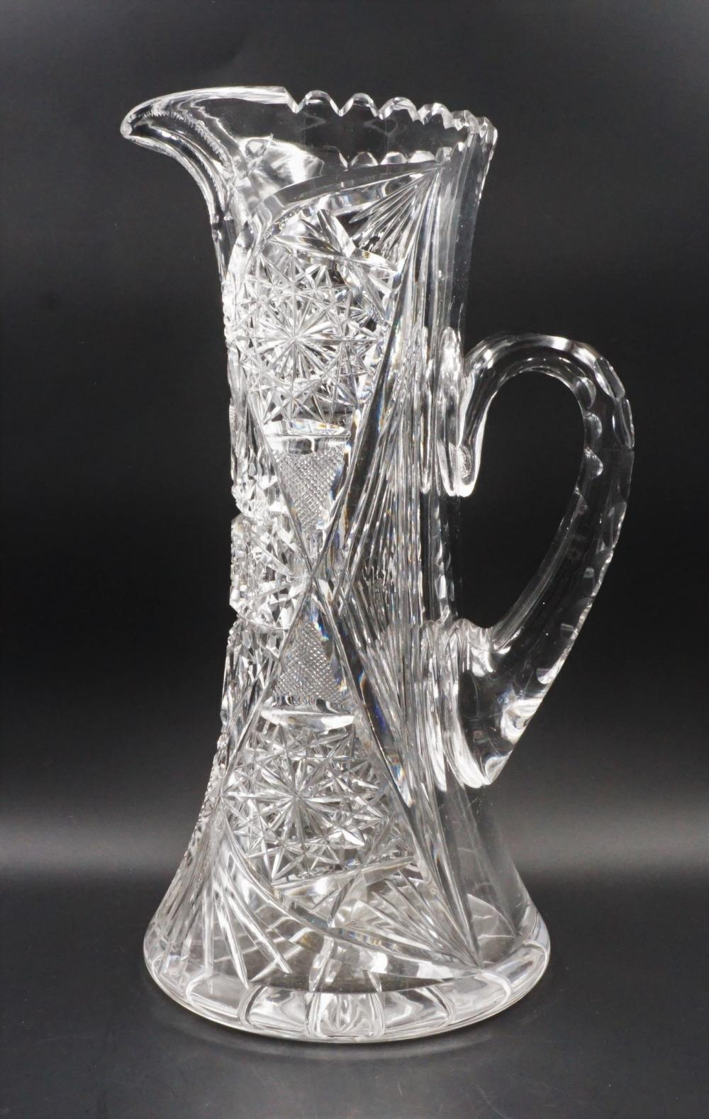 Antique cut glass pitcher