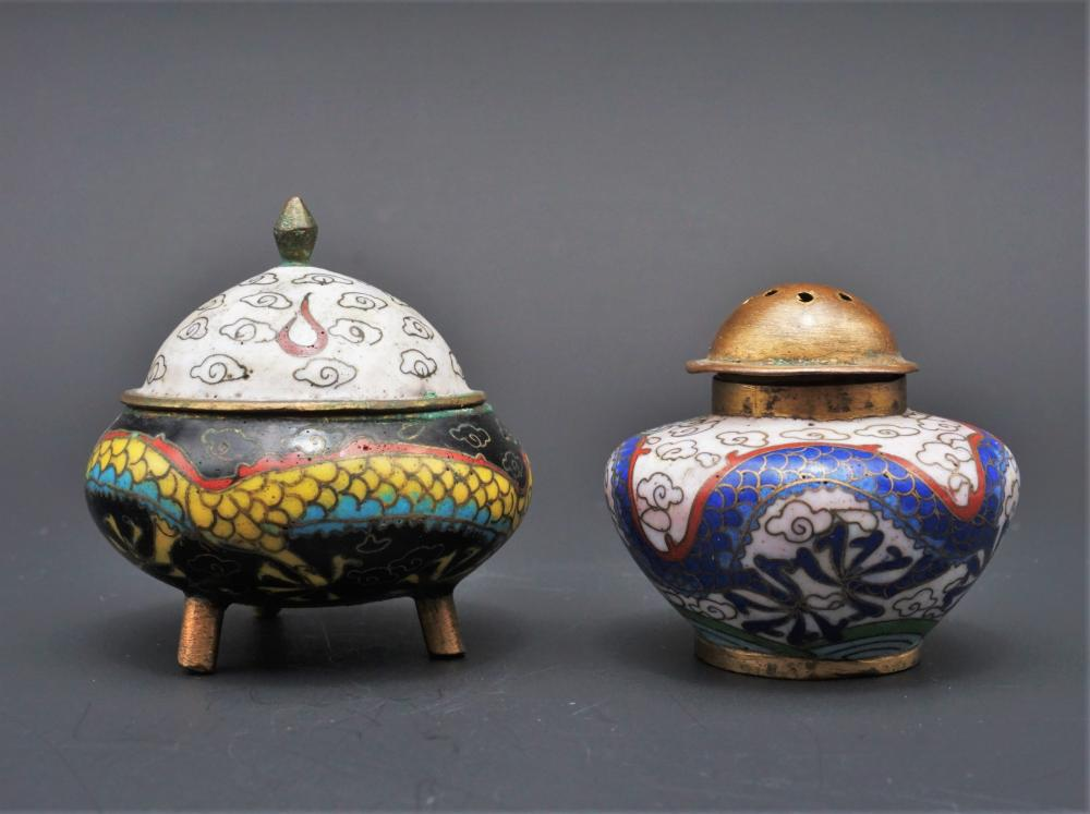 Cloisonne salt and pepper