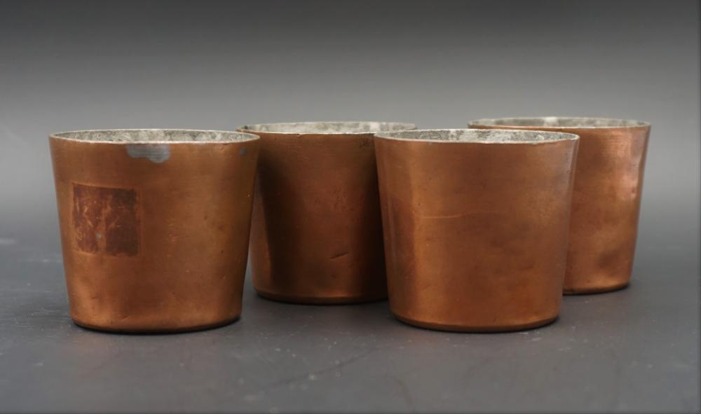 Antique Hotel Metropole copper cups