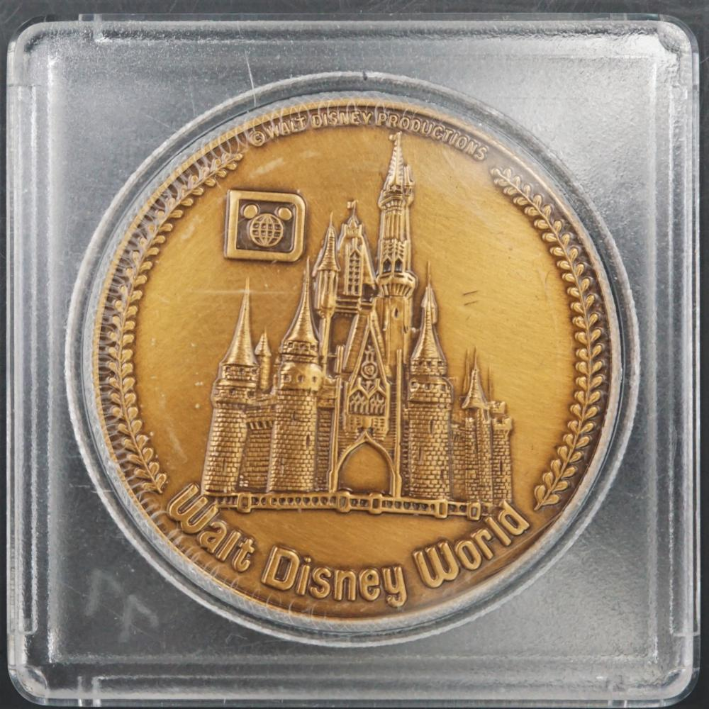 Vintage bronze Walt Disney World souvenir